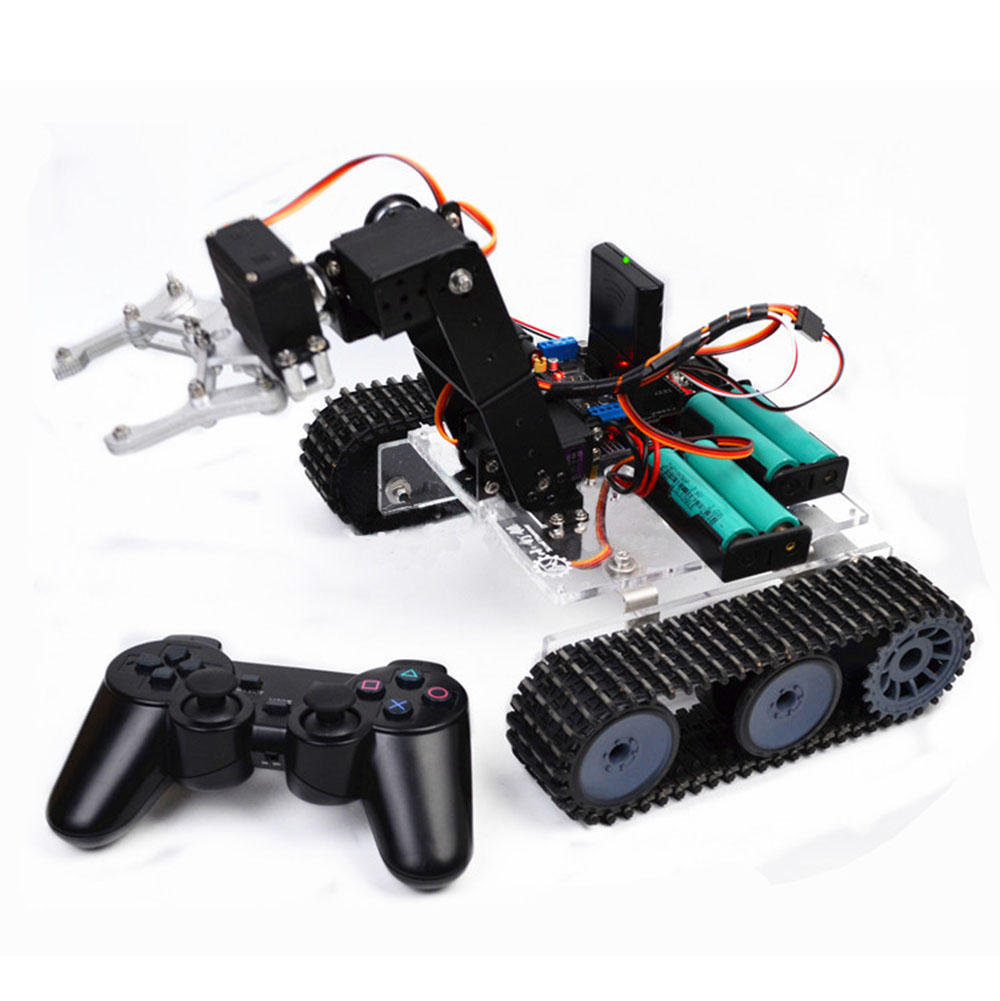 SNAR20DIY RC Robot Arm Tank Acrylic With PS2 Stick