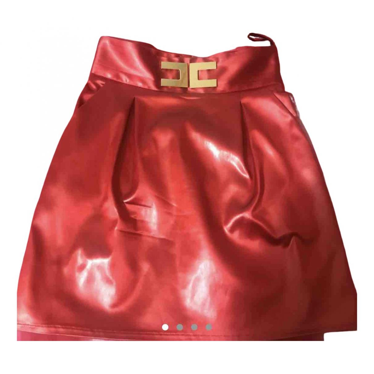 Elisabetta Franchi - Jupe   pour femme en coton - rouge