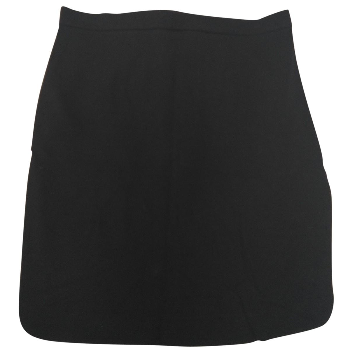 Sport Max \N Black Cotton - elasthane skirt for Women 44 IT