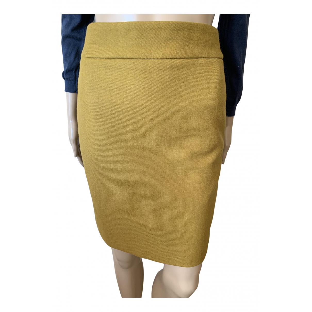 J.crew - Jupe   pour femme en laine - jaune