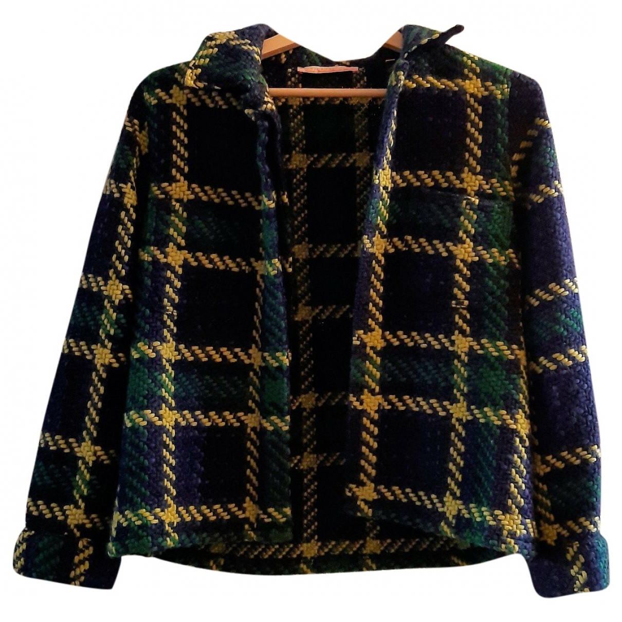 Non Signé / Unsigned \N Navy Wool jacket for Women 38 IT