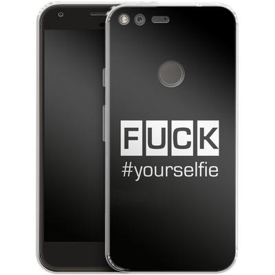 Google Pixel Silikon Handyhuelle - Fck Yourselfie von Statements