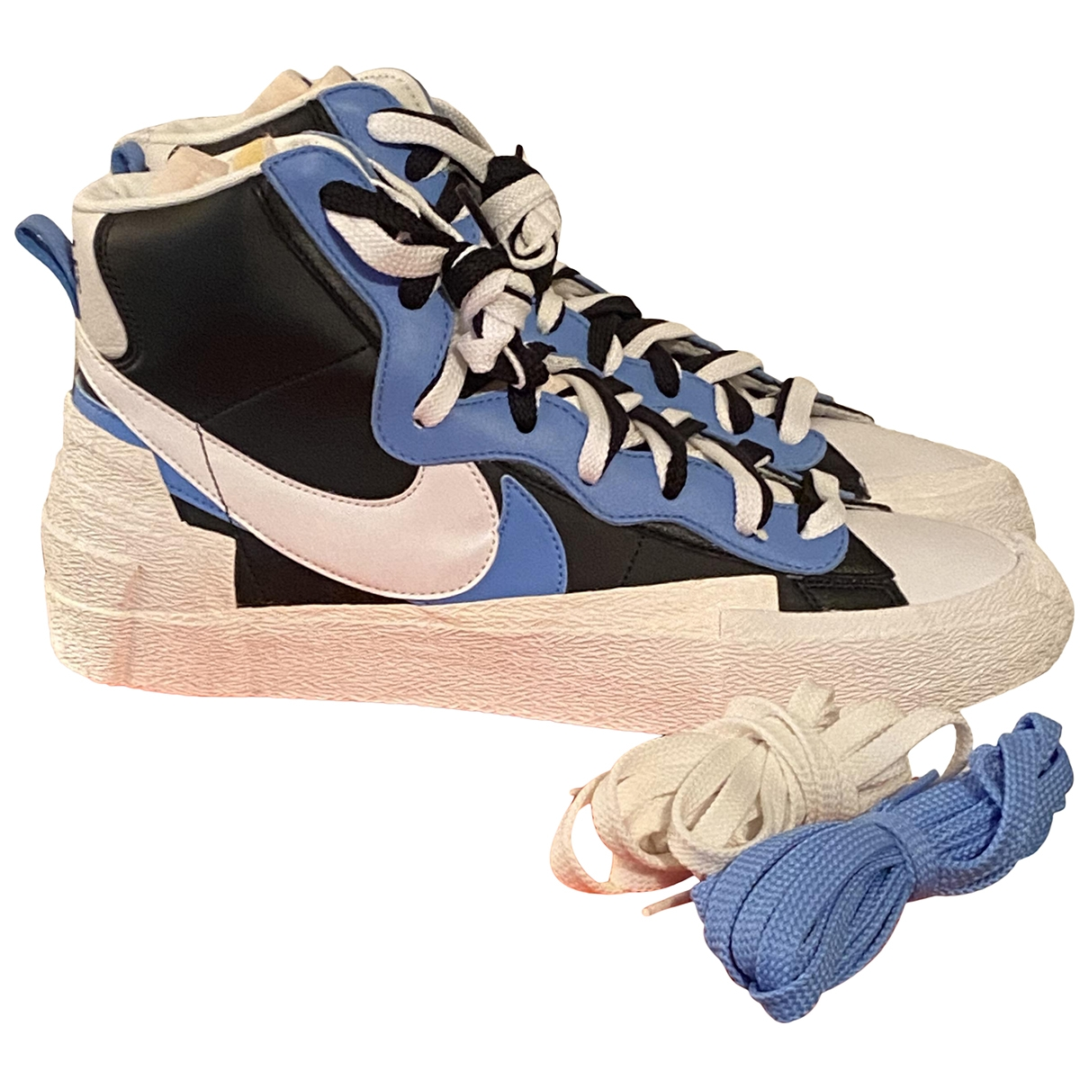 Nike X Sacai - Baskets Blazer Mid pour homme en toile - bleu