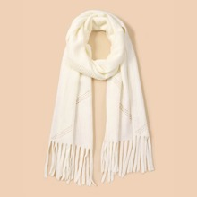 Solid Hollow Out Scarf