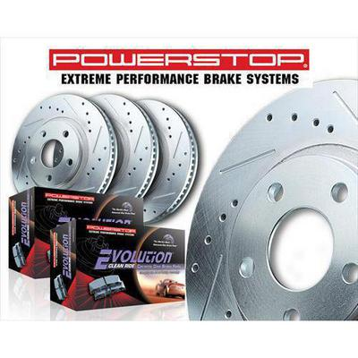 Power Stop Z23 Evolution Sport Performance 1-Click Front and Rear Brake Kit - K4034