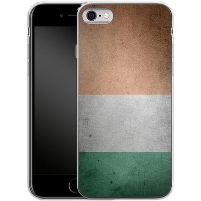 Apple iPhone 6 Silikon Handyhuelle - Rustic Irish Flag von caseable Designs