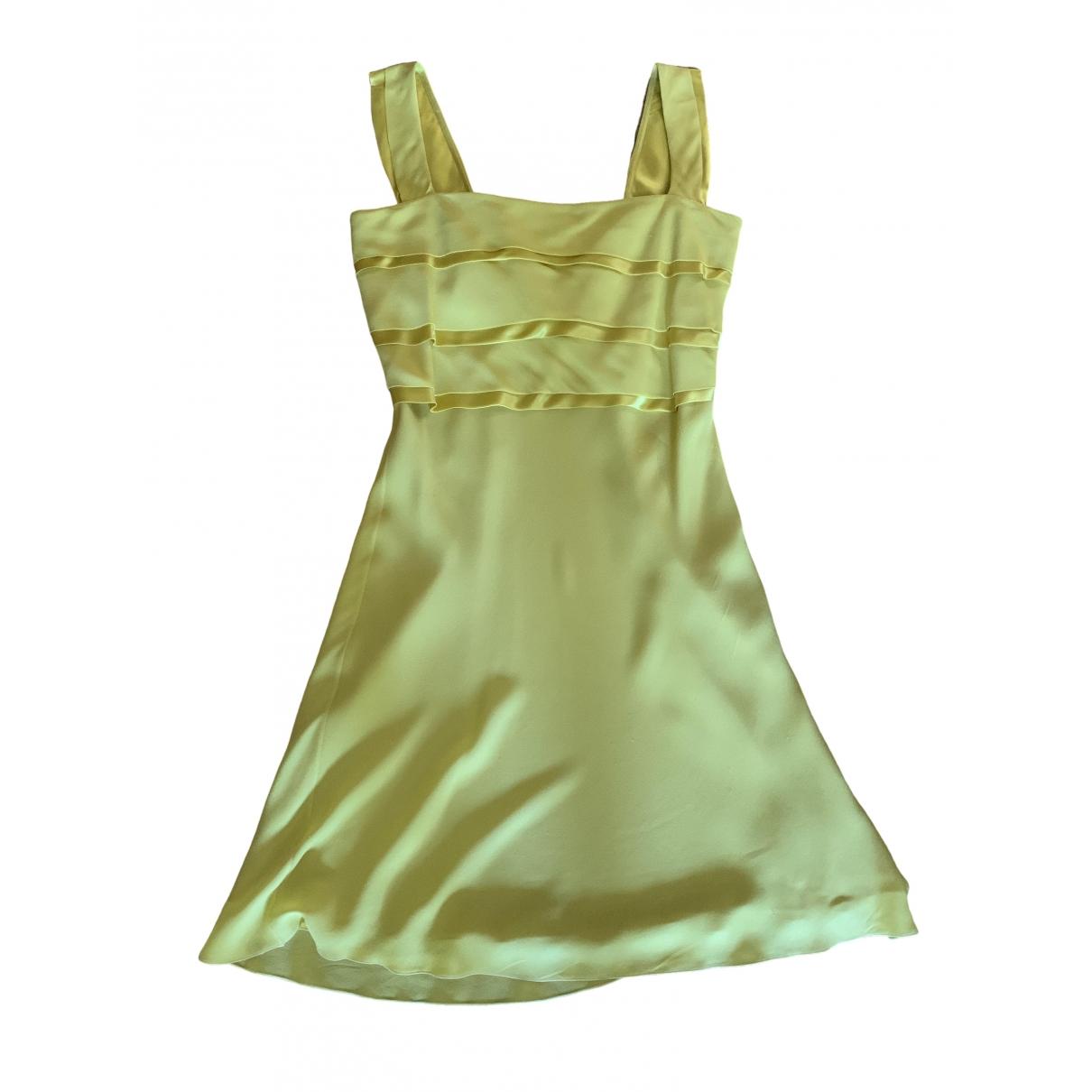 Valentino Garavani - Robe   pour femme en soie - jaune