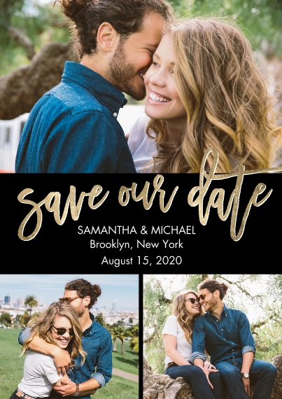 Save the Date 5x7 Cards, Premium Cardstock 120lb with Elegant Corners, Card & Stationery -Save the Date Romantic