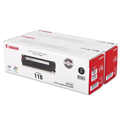 Canon 118 2662B004 Black Toner Cartridge Twin Pack