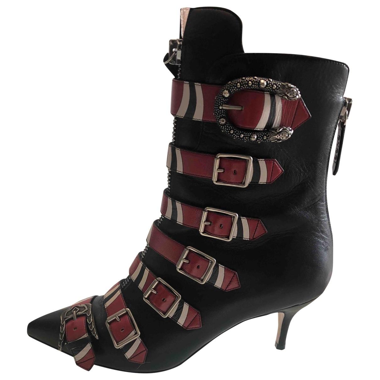 Gucci \N Stiefeletten in  Schwarz Leder