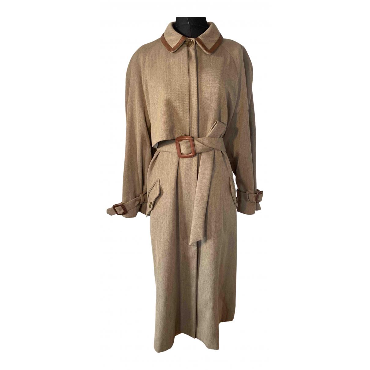 Trussardi - Manteau   pour femme en laine - beige