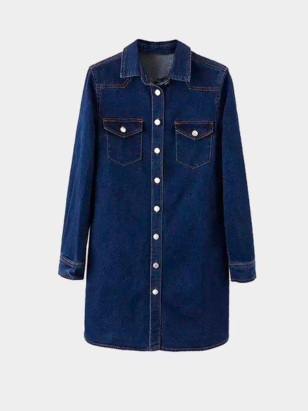 Yoins Denim Dress with Flap Pocket