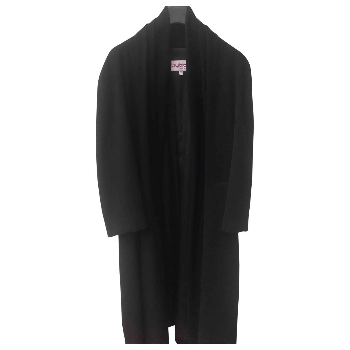Byblos - Manteau   pour femme en laine - noir