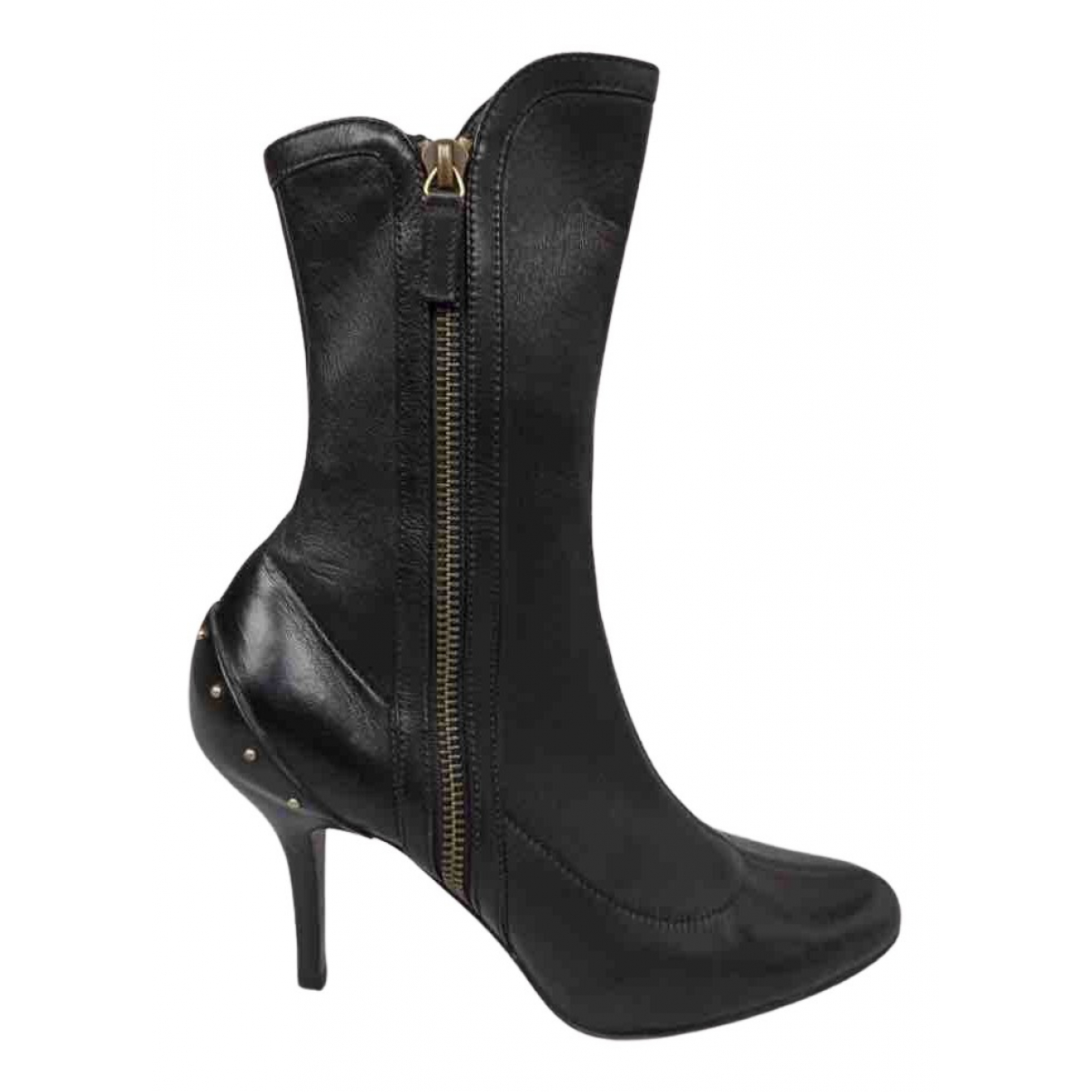 Gucci N Black Leather Boots for Women 36 EU
