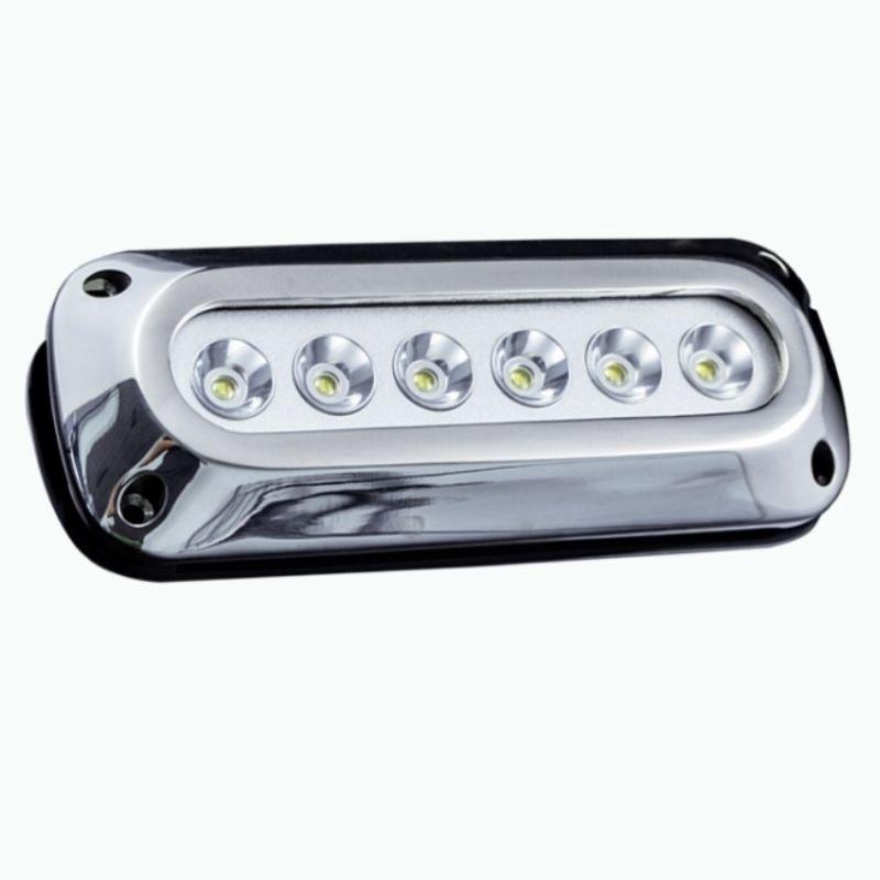 Race Sport Lighting MS-6E01ML-6X3RGB  6-LED 6X3W Surface Mount Marine Underwater Light RGB MultiColor - 316 Marine Grade Stainless Steel