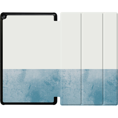 Amazon Fire HD 10 (2018) Tablet Smart Case - Colour Block Blue von caseable Designs