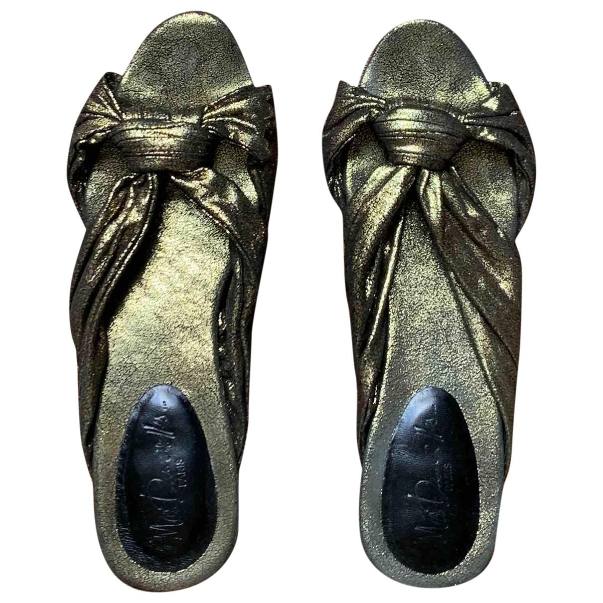 Mes Demoiselles ... \N Metallic Leather Sandals for Women 38 EU