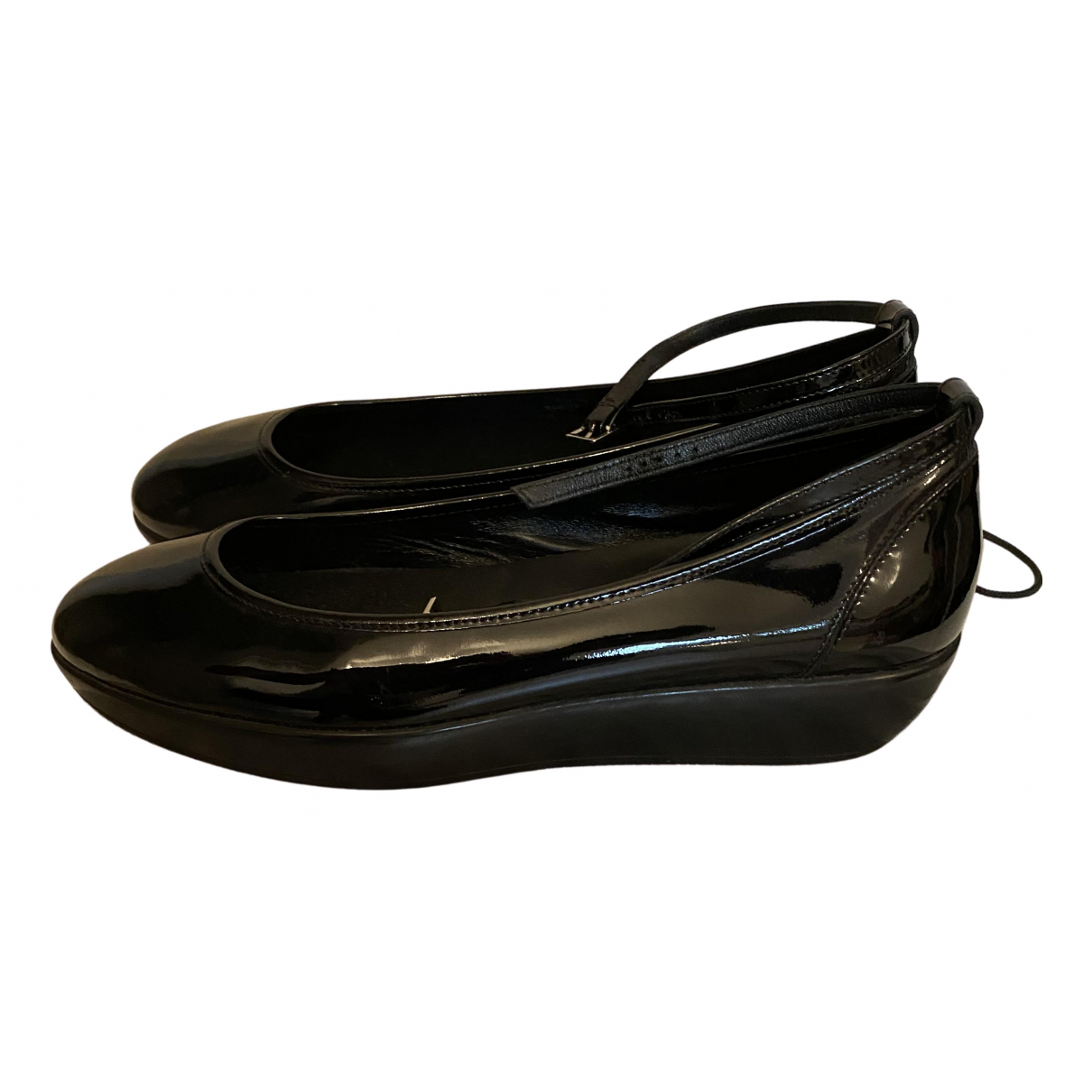 Hogan \N Ballerinas in  Schwarz Lackleder