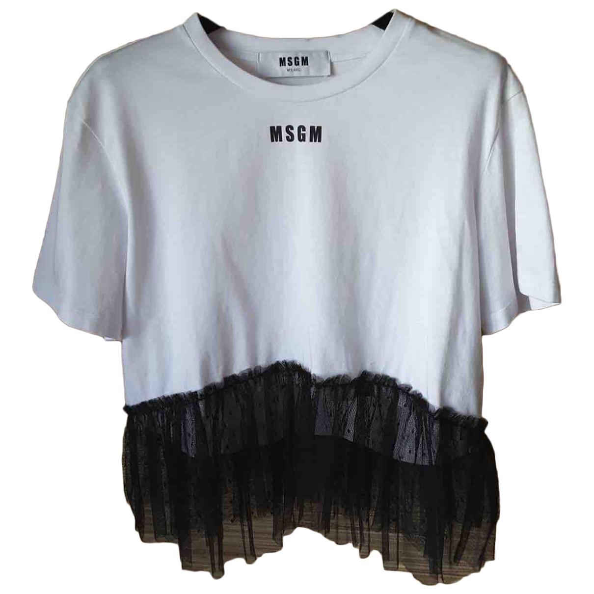Msgm \N White Cotton  top for Women M International