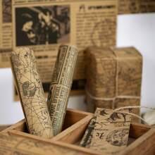 1 paquete papel material al azar con patron vintage