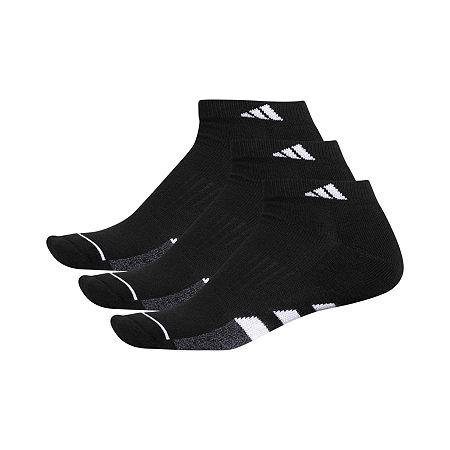 adidas 3 Pair Low Cut Socks-Mens, 10-13 , Black