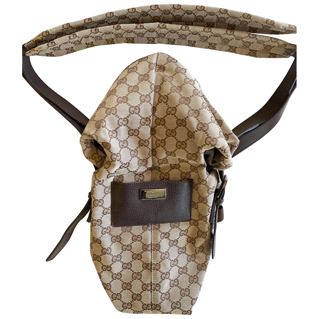 Gucci \N Taschen in  Braun Baumwolle