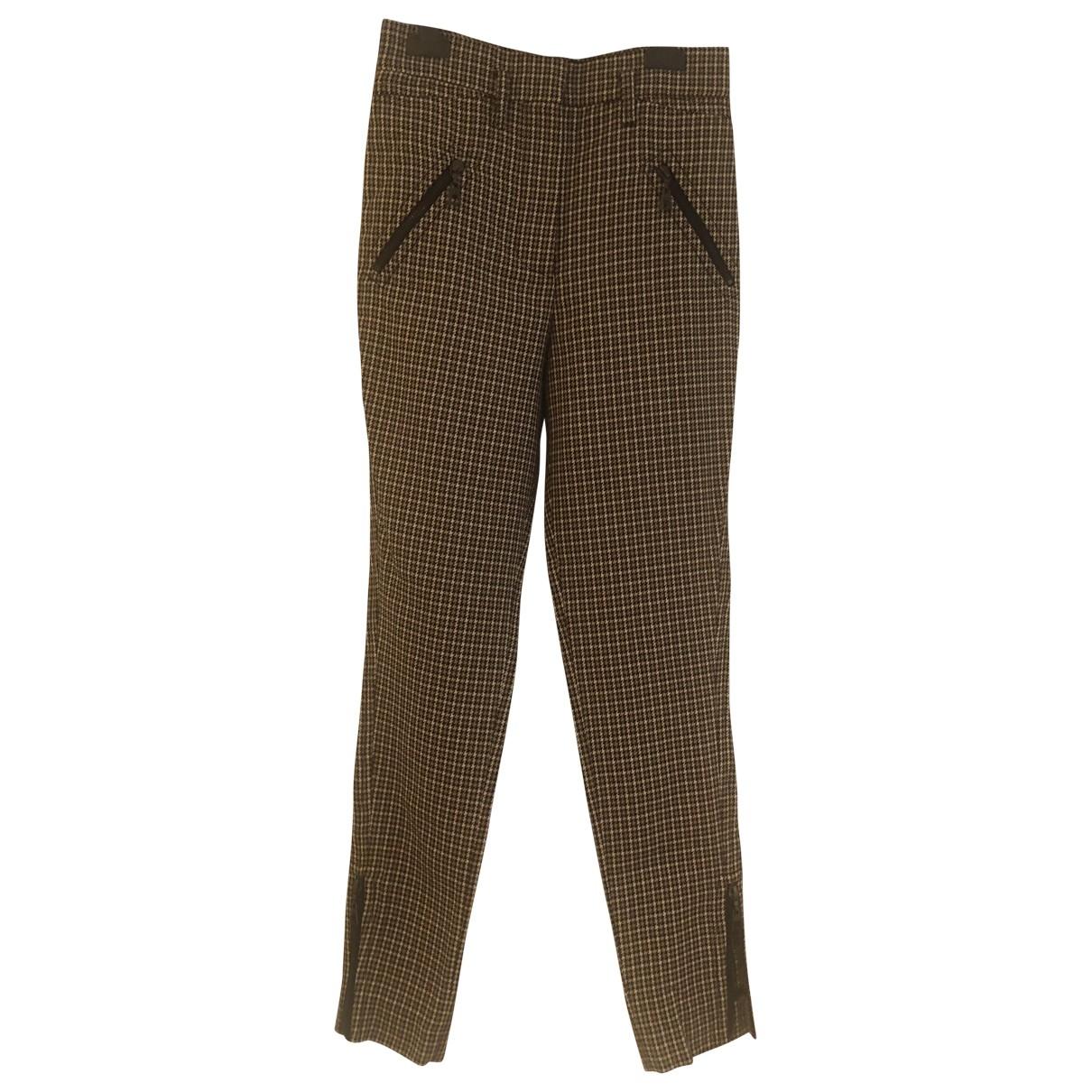 Louis Vuitton \N Beige Wool Trousers for Women 34 FR