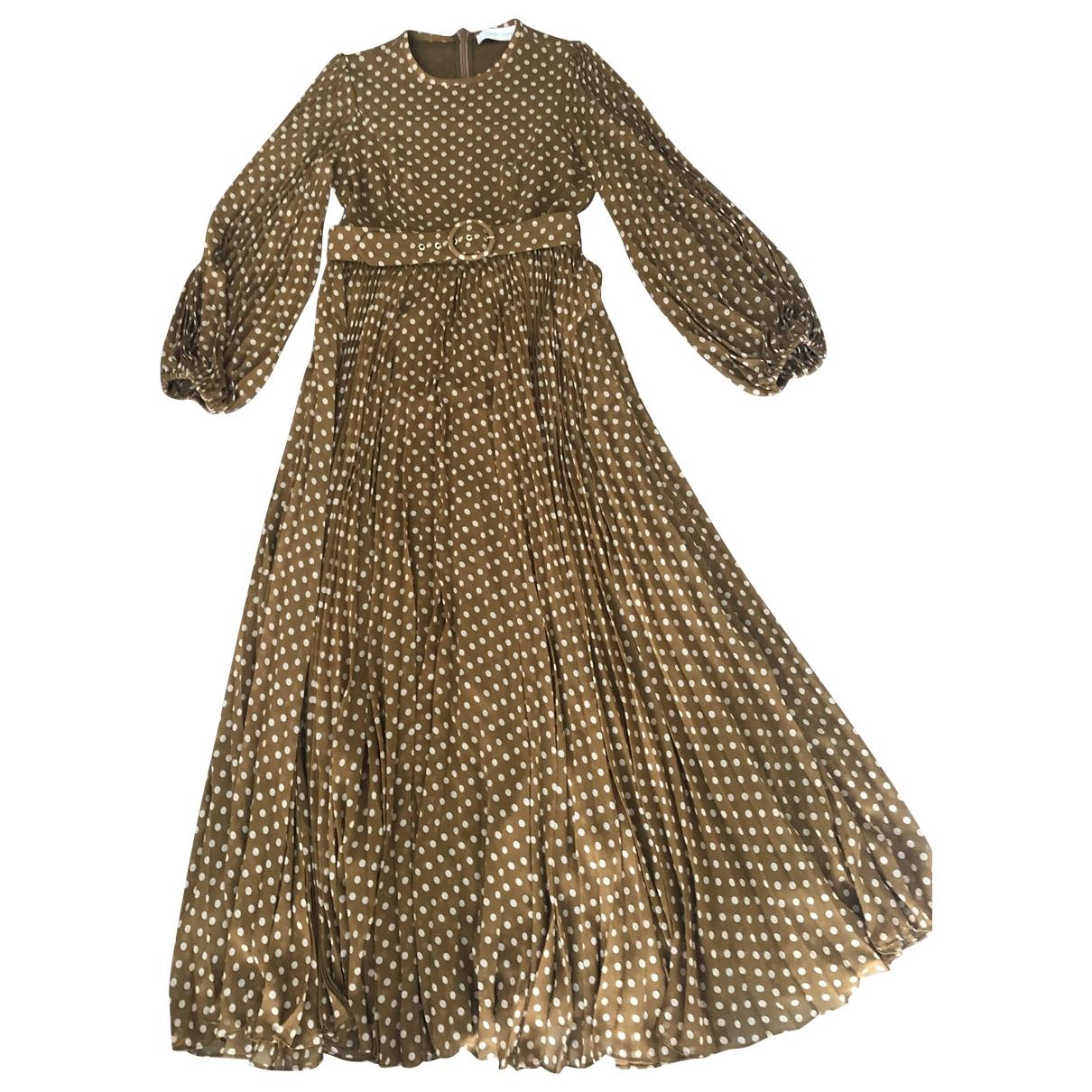 Zimmermann \N Kleid in  Beige Polyester