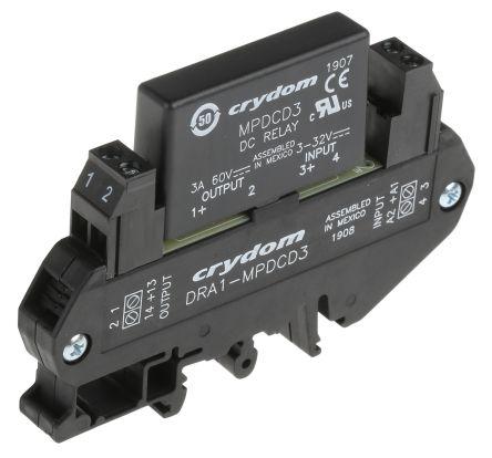 Sensata / Crydom 3 A SPNO Solid State Relay, DC, DIN Rail, 60 V Maximum Load