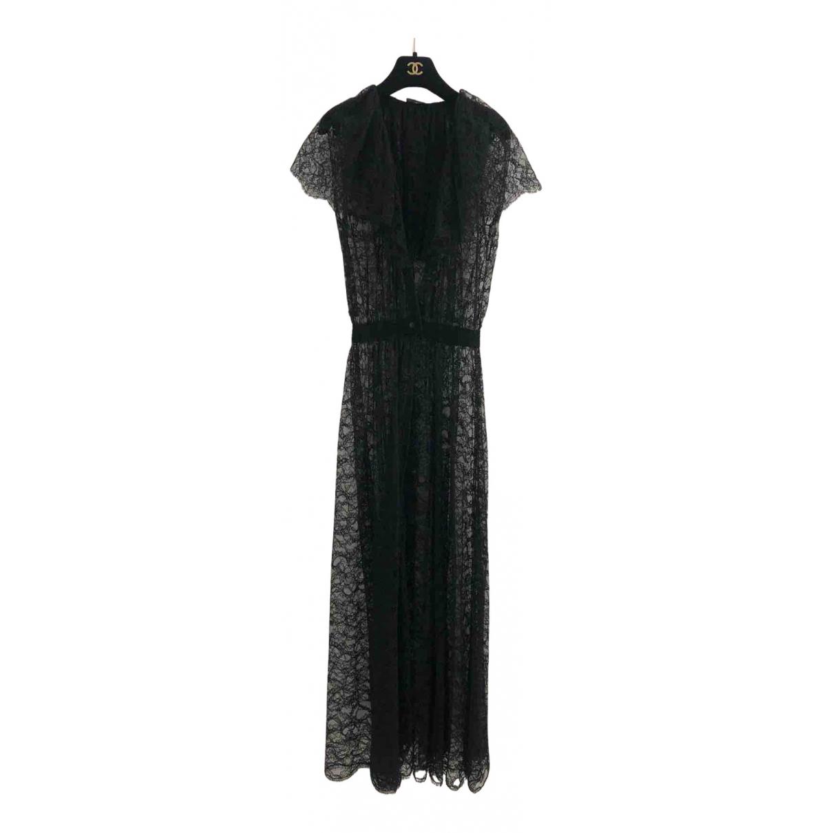 Chanel - Robe   pour femme en dentelle - noir