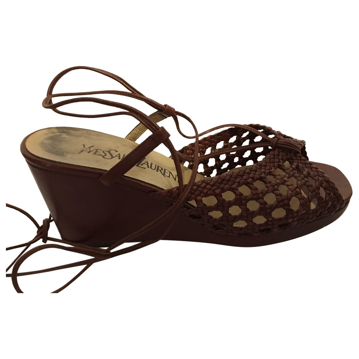 Yves Saint Laurent \N Brown Leather Sandals for Women 36.5 EU