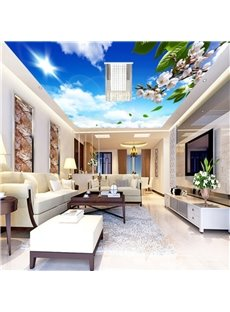 3D Blue Sky Printed Waterproof Durable and Eco-friendly Ceiling Murals