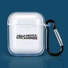 Letter Graphic Clear Airpods Case