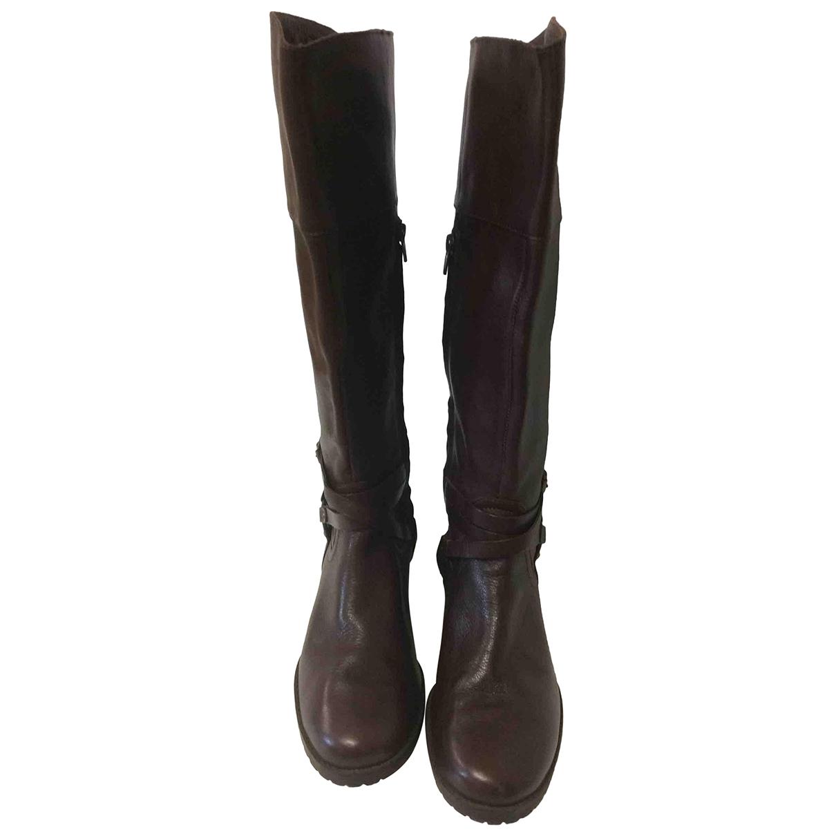 Lauren Ralph Lauren \N Brown Leather Boots for Women 40 EU