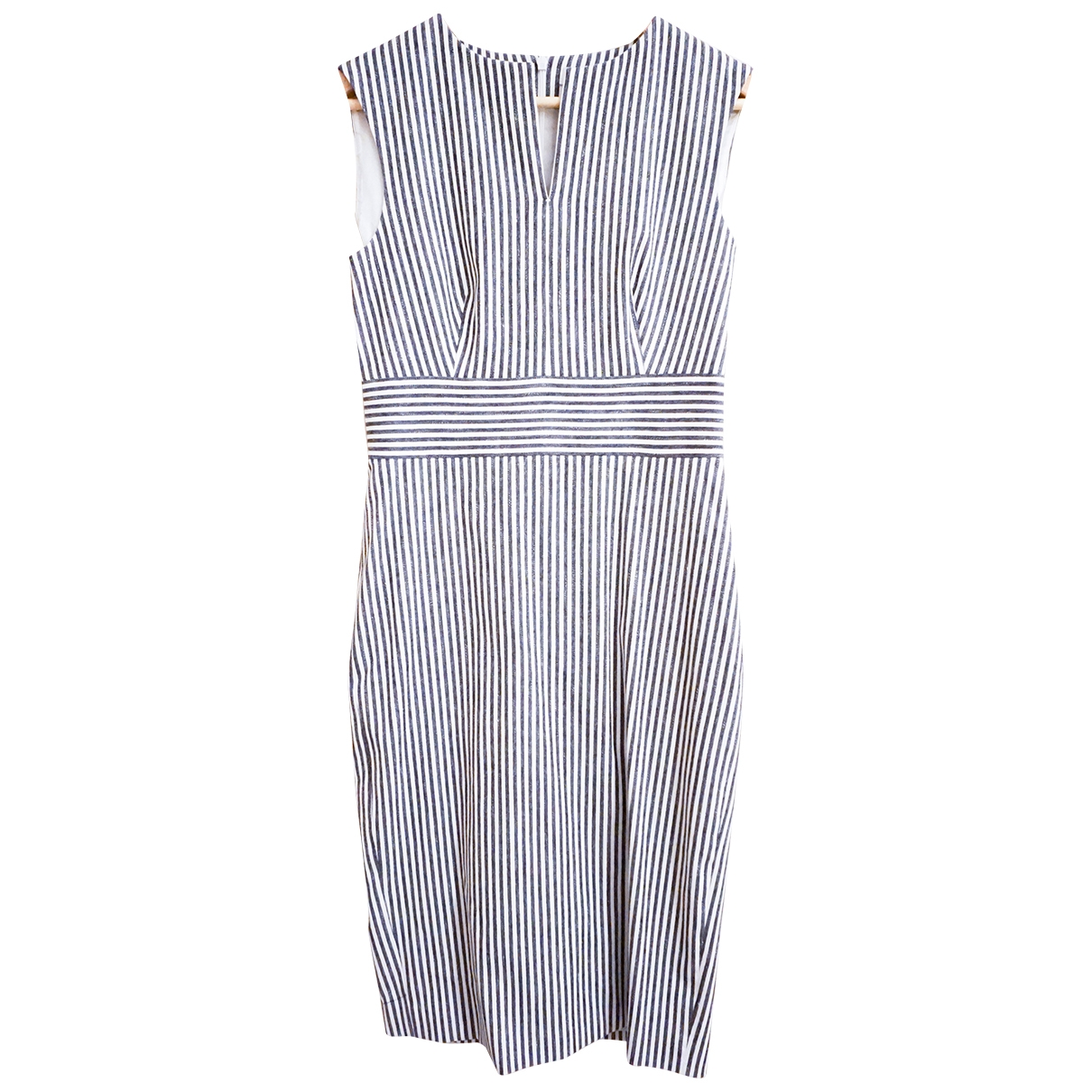 Max Mara - Robe   pour femme en coton - elasthane - gris