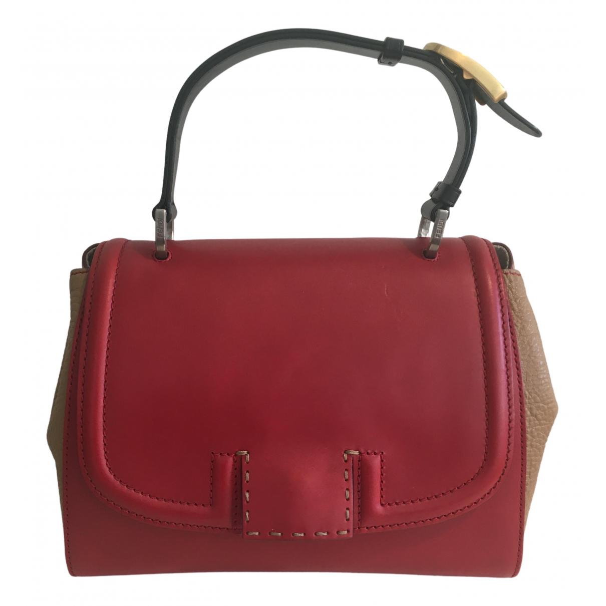 Fendi Silvana Red Leather handbag for Women N