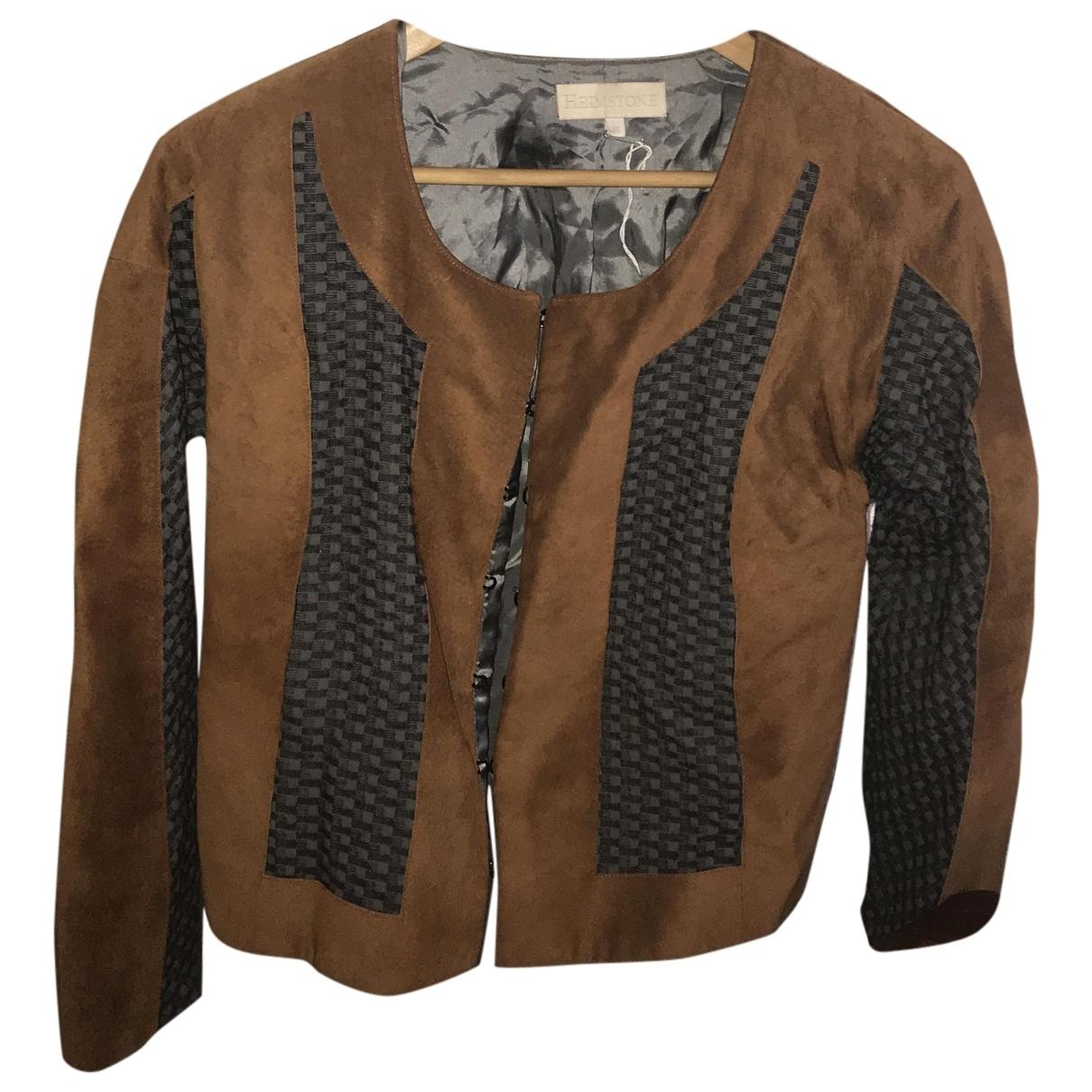 Heimstone \N Brown Denim - Jeans jacket for Women 36 FR