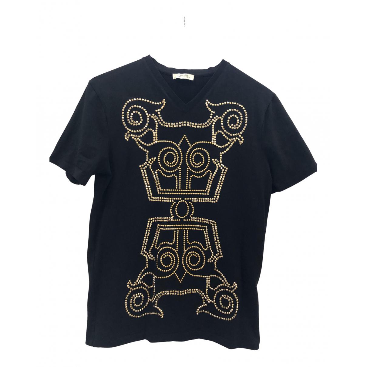 Versace - Tee shirts   pour homme en coton - noir