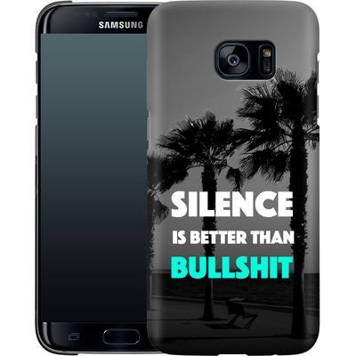 Samsung Galaxy S7 Edge Smartphone Huelle - Silence Is Better von Statements