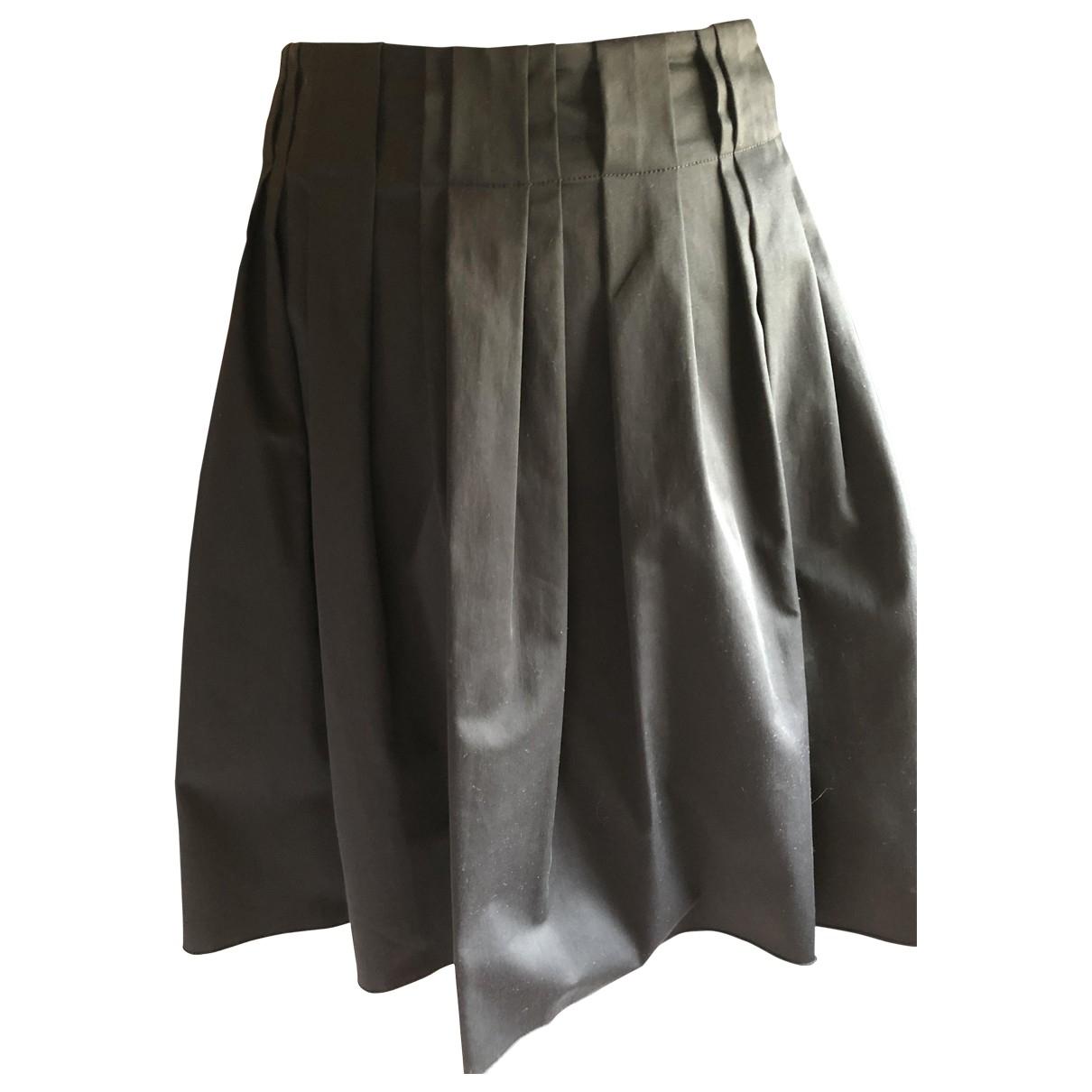 Prada \N Black Cotton skirt for Women 46 IT