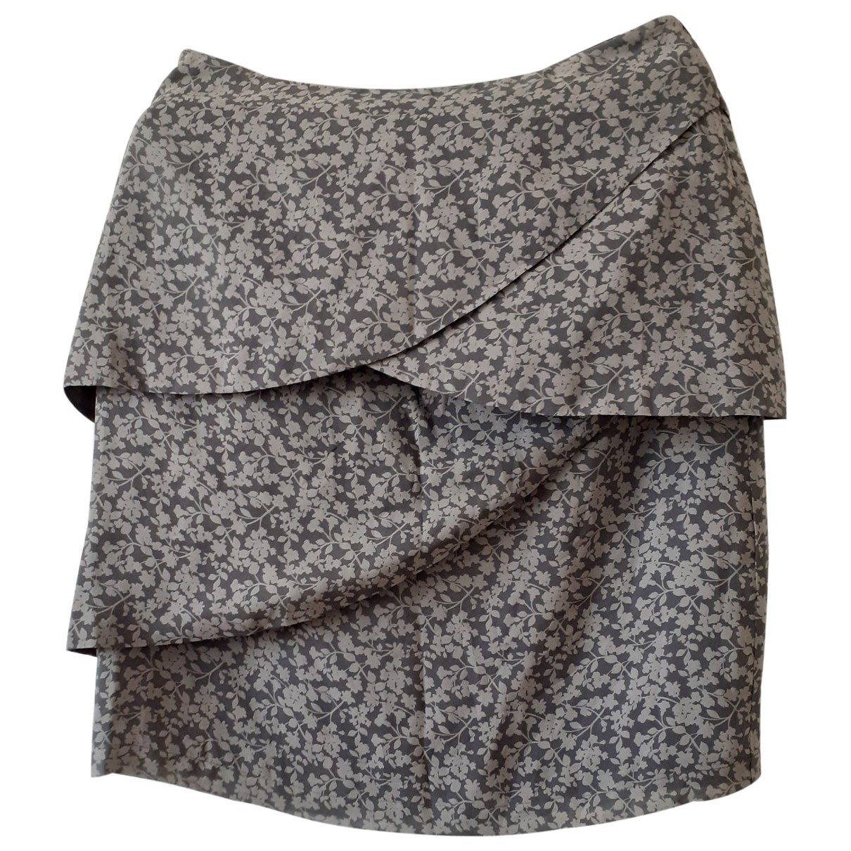 Non Signé / Unsigned \N Grey Silk skirt for Women 44 IT