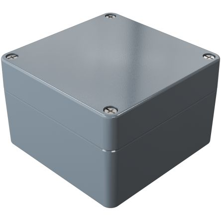Rose Aluminium Standard, Grey Die Cast Aluminium Enclosure, IP66, 140 x 140 x 90mm Lloyds Register, Maritime Register,