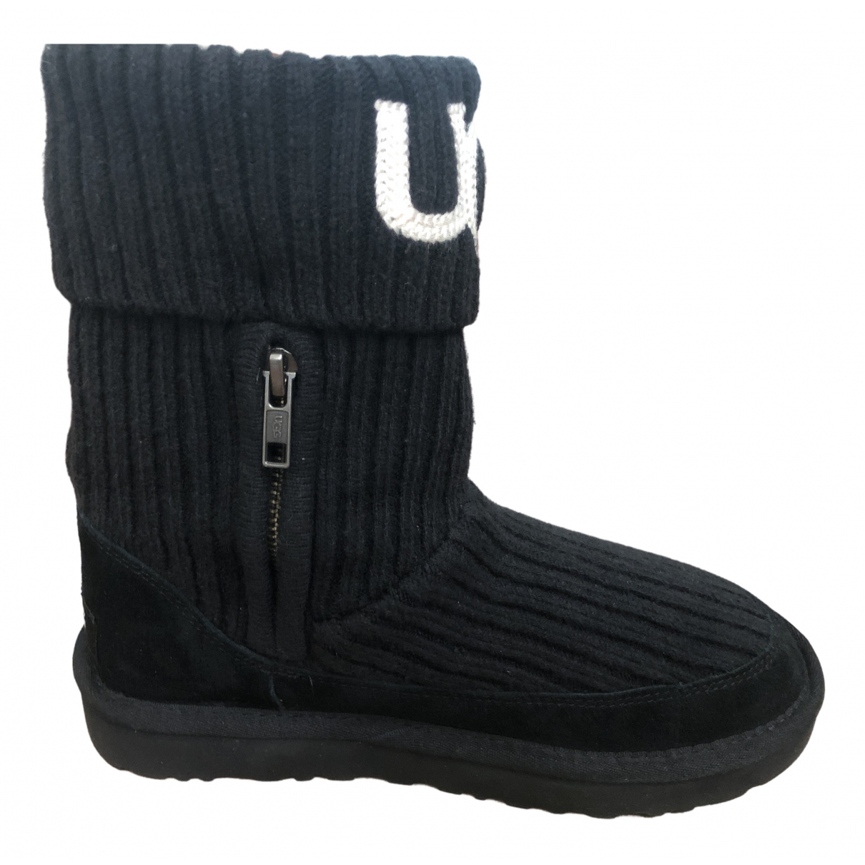 Ugg \N Black Suede Ankle boots for Women 36 EU