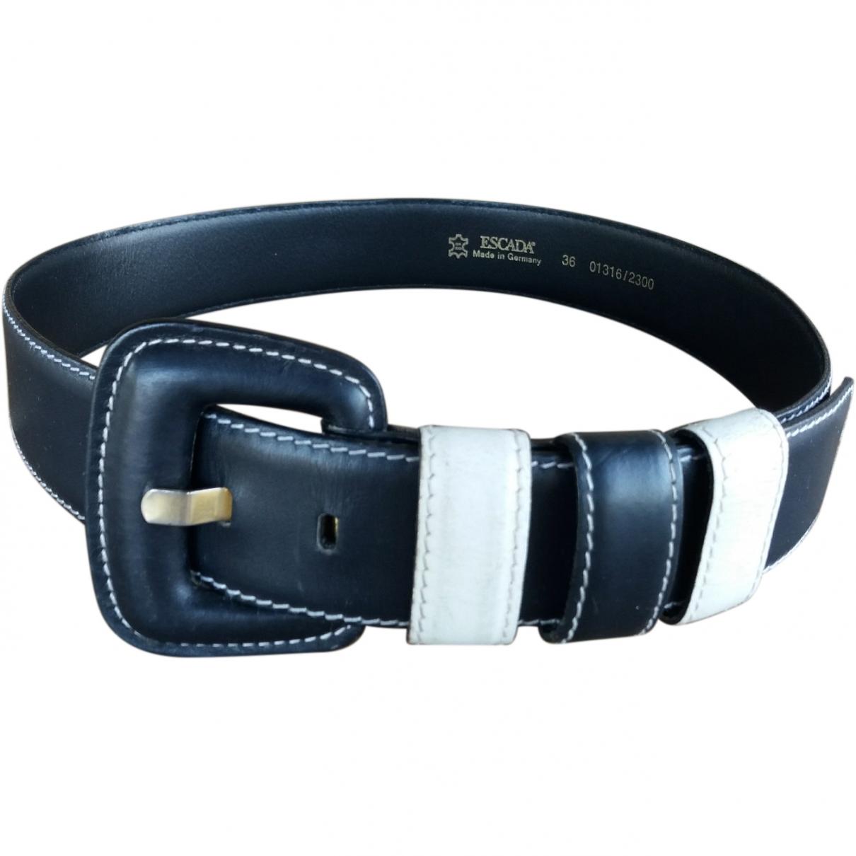 Escada \N Navy Leather belt for Women 70 cm