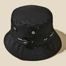 Eyelet Decor Bucket Hat