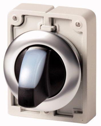 Eaton M30 Illuminated Selector Switch - 2 Position, Momentary, 30mm cutout