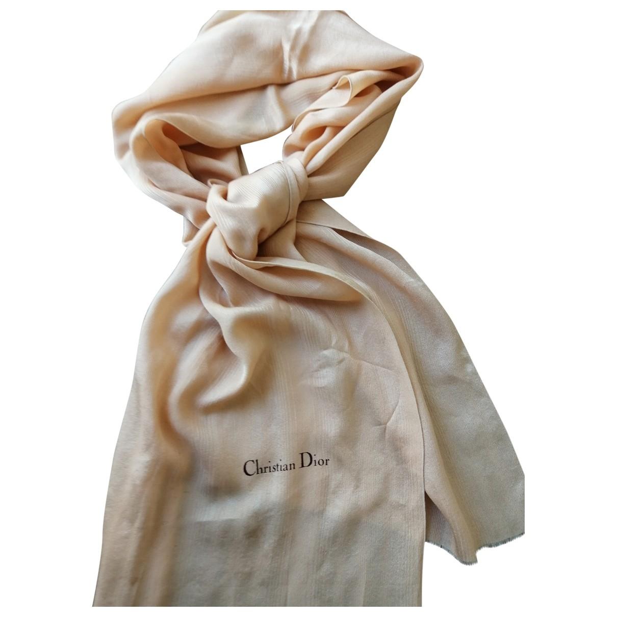 Dior \N Orange Silk scarf for Women \N