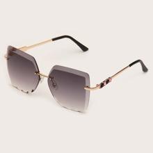 Gafas de sol sin montura con diamante de imitacion