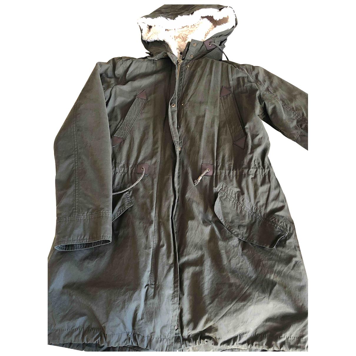 Mango N Green Cotton coat for Women S International