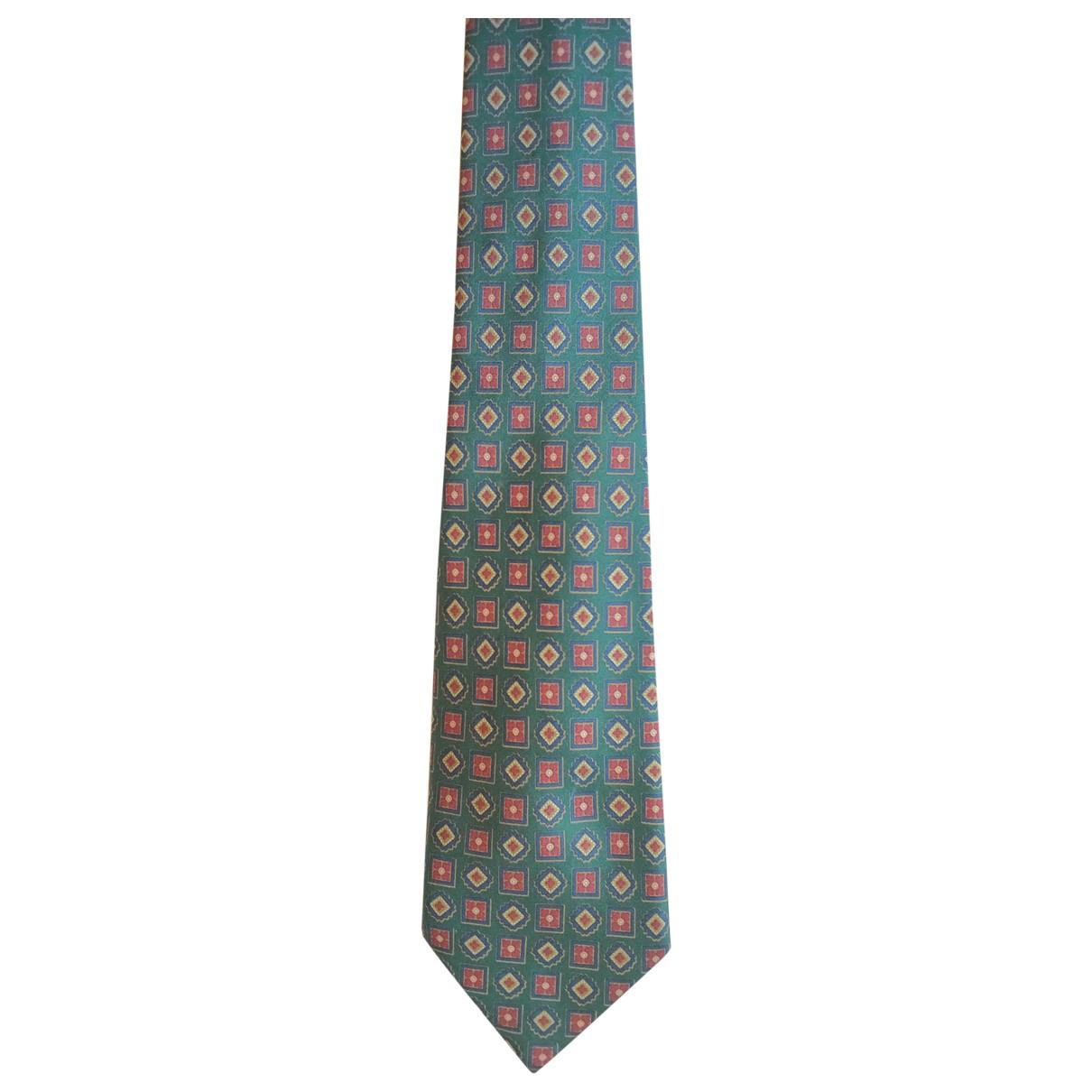 Fendi \N Krawatten in  Gruen Seide